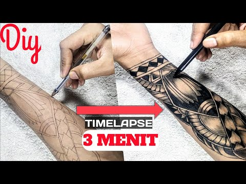 Cara Membuat Gambar Tato Tato Temporer Youtube
