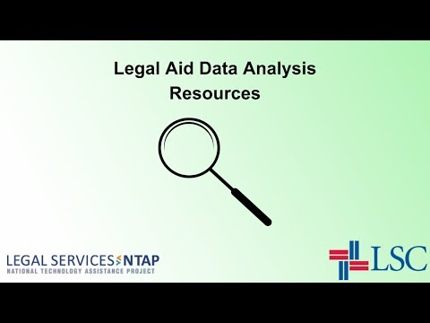 Legal Aid Data Analysis Resources