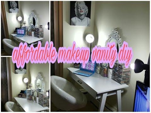 DIY vanity !!affordable. Beautiful. Easy!!