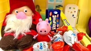 Świnka Peppa i Mikołaj  Mikołaju co ty tutaj robisz   Bajka dla dzieci PO POLSKU