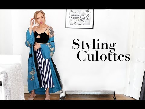 SHOPPING & STYLING CULOTTES   Samantha Maria