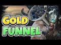TRYNDAMERE GOLD FUNNEL! MAKING THE MOST OUT OF YOUR SOLO CARRY - League of Legends Full Gameplay