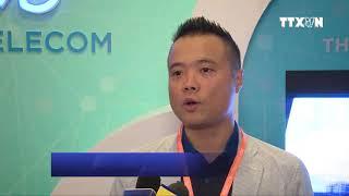 [TTXVN] Ông Phó Đức Kiên - Phó TGĐ CMC Telecom trả lời tại Internet Day 2018