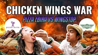 PERANG CHICKEN WINGS!!  EL Diablo (pizza ebira) VS Atomic Blast (wingstop)