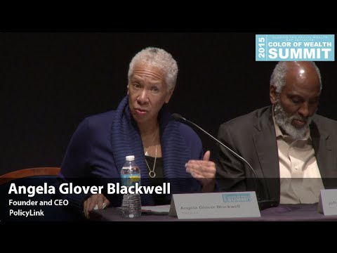 Angela Glover Blackwell on Making Equity Work Panel at 2015 Color of Wealth Summit