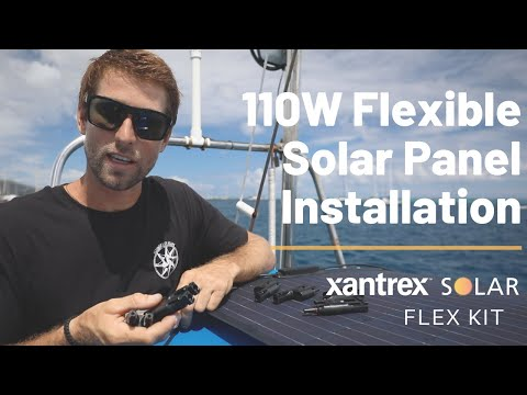 Installing 110W Flexible Solar Panels on Our Boat