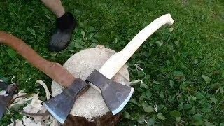 МАСТЕР - КЛАСС по изготовлению топорища. Как сделать топорище под себя и правильно насадить топор.
