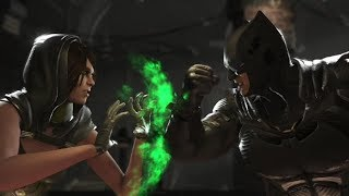 Injustice 2 : Enchantress Vs Batman & Superman - All Intro/Outros, Clash Dialogues, Super Moves