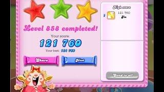 Candy Crush Saga Level 858     ★★★   NO BOOSTER