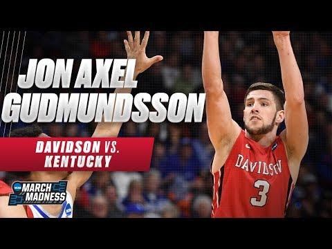 Davidson vs. Kentucky: Jon Axel Gudmundsson hits 6 three-pointers in the First Round