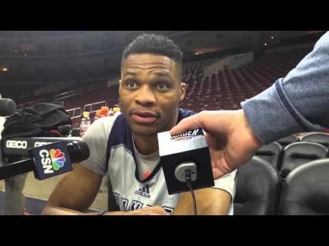 Westbrook: Shootaround in Philadelphia - March 18, 2016