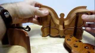 Handcrafted Butterfly Puzzle Box From Heartwood Gifts
