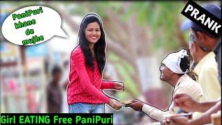 #latur #eatingstrangerspanipuri #prank Girl Eating Strangers Panipuri | Prank  | f4u.in