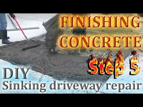 How to Finish a Concrete Slab