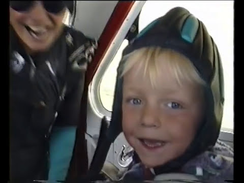 Youngest skydive in the world? 4 year old goes tandem skydiving in 1995