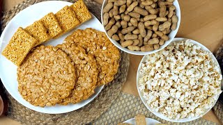 Pan shot of delicious Lohri items consumed during the winter season in India