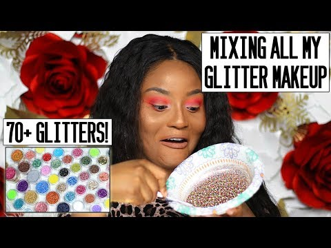 I MIXED OVER 70 GLITTERS TOGETHER! + I wore it 🤷🏾♀️
