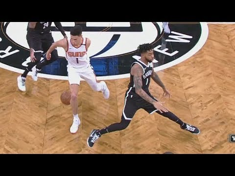 Devin Booker Got D'Angelo Russell Leaning! Suns vs Nets 2017-18 Season