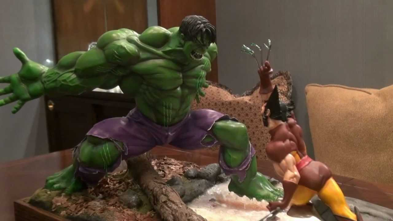 Marvel Hulk vs.Wolverine Maquette Statue Sideshow 12/'/' Action Figure Toys In Box