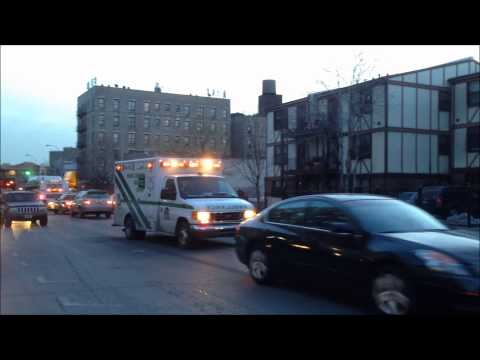 BRONX LEBANON HOSPITAL CENTER EMS AMBULANCE RESPONDING ON PROSPECT AVE. IN MORRISANIA, THE BRONX.