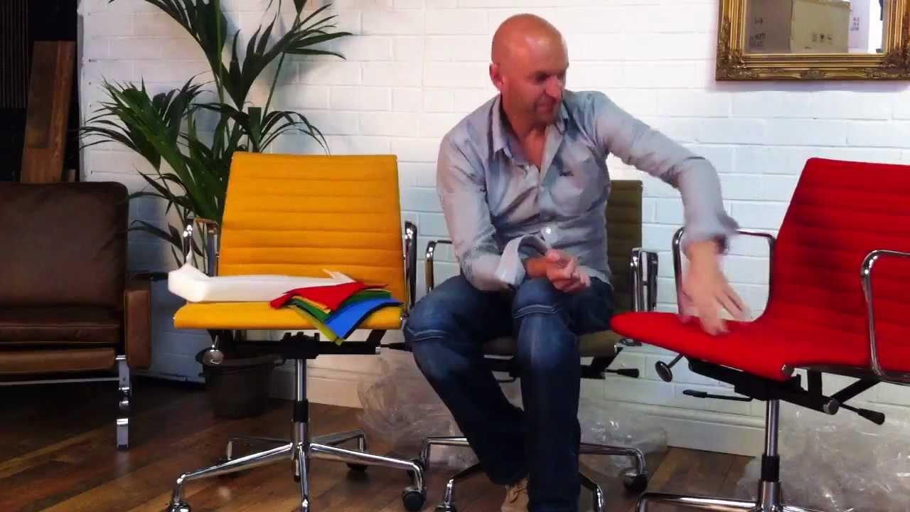 Eames Ea 117 Bureaustoel.Demonstrating Our New Eames Ea117 Style Chairs Youtube