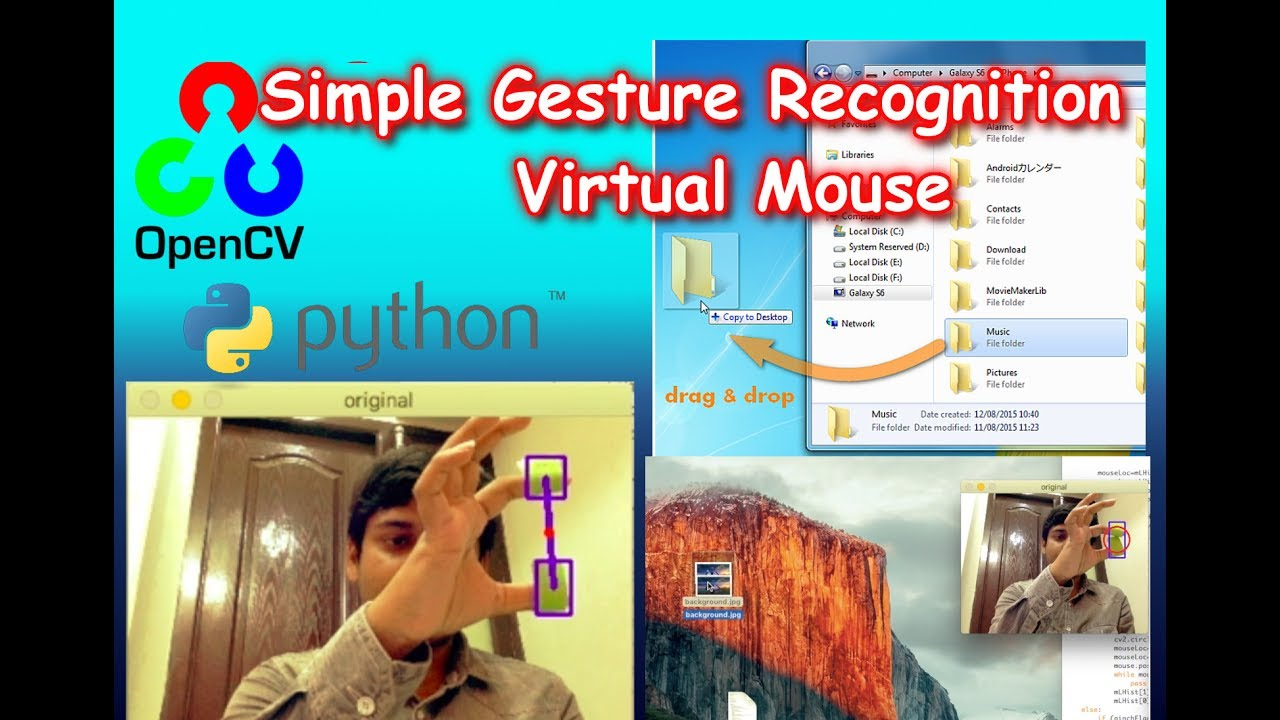 Gesture Recognition Virtual Mouse Using OpenCV | The Codacus