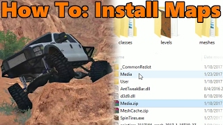 Spin Tires HOW TO INSTALL MAPS - EASY! - Full, Basic Tutorial