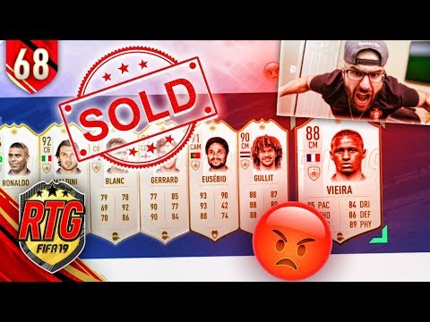 WOW! RAGE SELLING THE TEAM!? - FIFA 19 Ultimate Team RTG #68