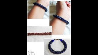 Beaded Netted Spiral Bracelet!!!