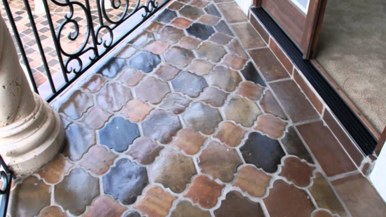 Manganese Saltillo Terra Cotta Mexican Tile Youtube