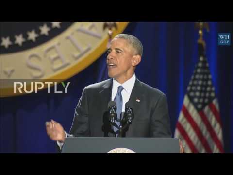 USA: 'Yes We Did' - Obama Gives Farewell Address In Chicago