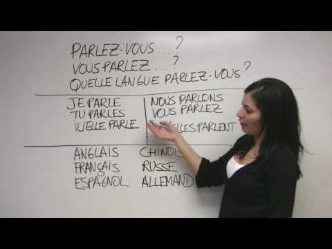 """French for Beginners - """"What language do you speak?"""" - How to ask and how to answer!"""