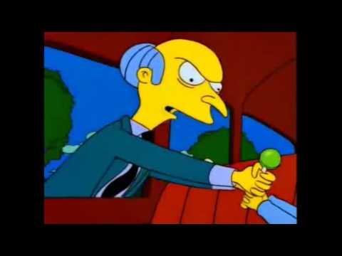 Los Simpson - Maggie le disparo al señor Burns