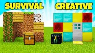 DOMEK SURVIVAL vs DOMEK CREATIVE! - Który wyszedł lepiej?