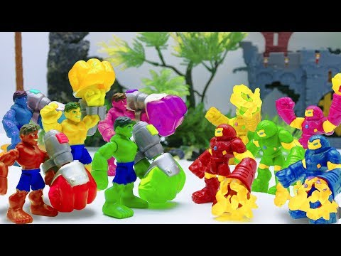 Toys Play Time Hulk vs Hulkbuster Colors Avengers Team Toy Story Short Action Movie For Kids 2018