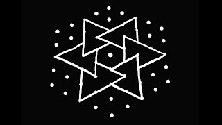 Easy Kolam Design with 9X5 Dots | Rangoli Designs | Muggulu Designs | Kolam | Rangoli | Muggulu