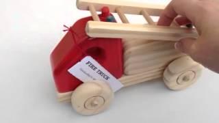 Handmade Wooden Fire Truck