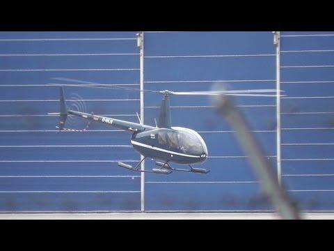 16-04-2013 Privé helikopter Stijgt op vanaf Rotterdam Airport