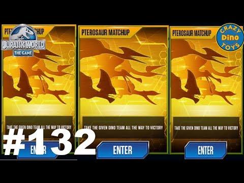 Jurassic World The Game Episode 132 Pterosaur Matchup Vs Indominus Rex Dinosaur Gameplay Walkthrough