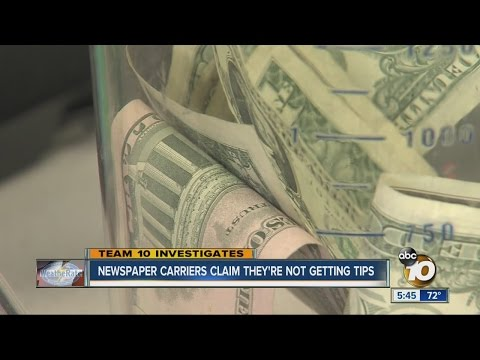 Newspaper Carriers Send Out Letters, Claim They're Not Getting Customer Tips