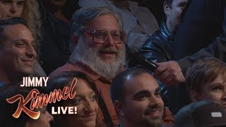 Behind the Scenes with Jimmy Kimmel & Audience (Yankees Thumbs Down Guy)