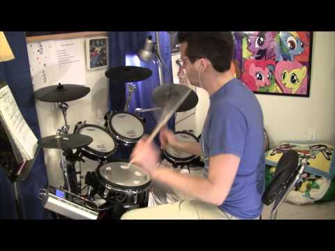 "Super Sonico ""SuperSoni♥"" OP Drum Cover すーぱーそに子「すぱそにっ♥」叩いてみた そにアニ"