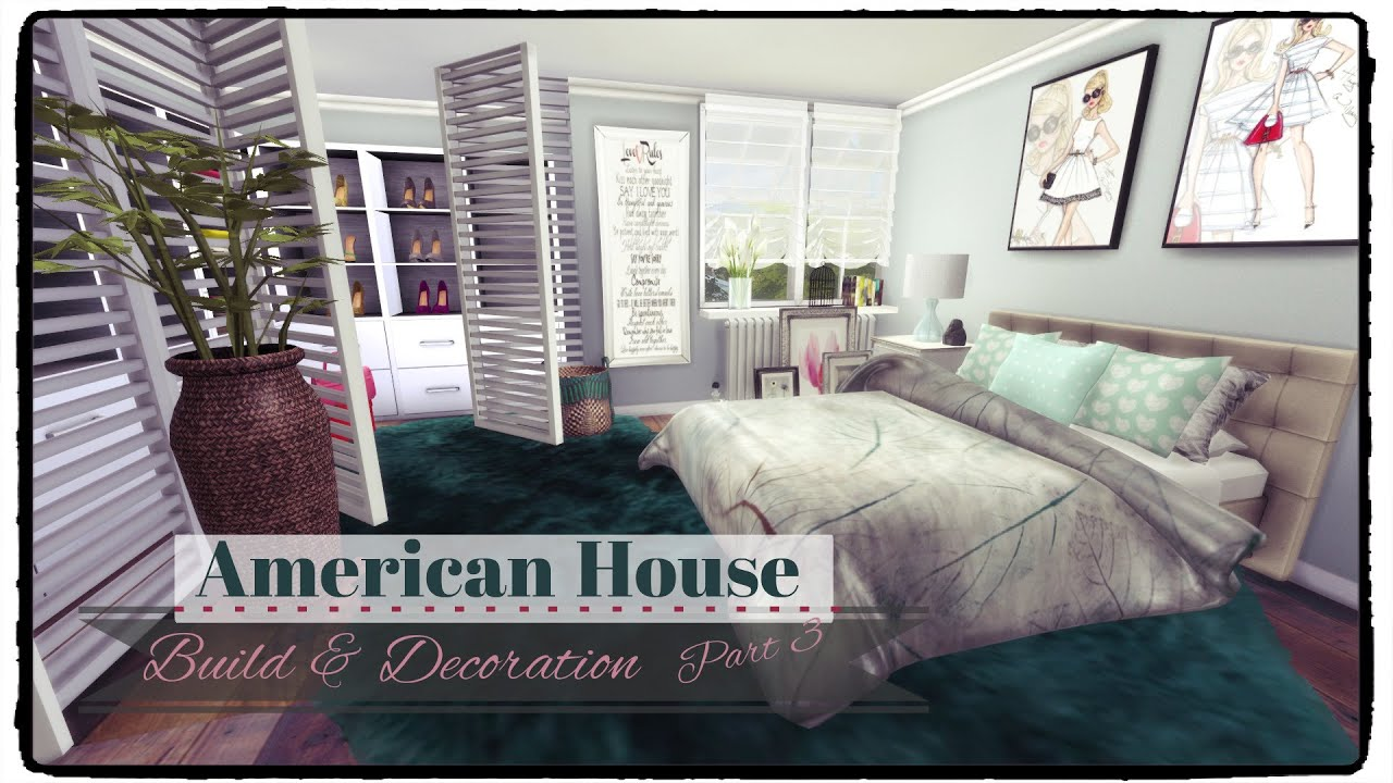 Sims 4 american style house build decoration part 3 for American decoration home