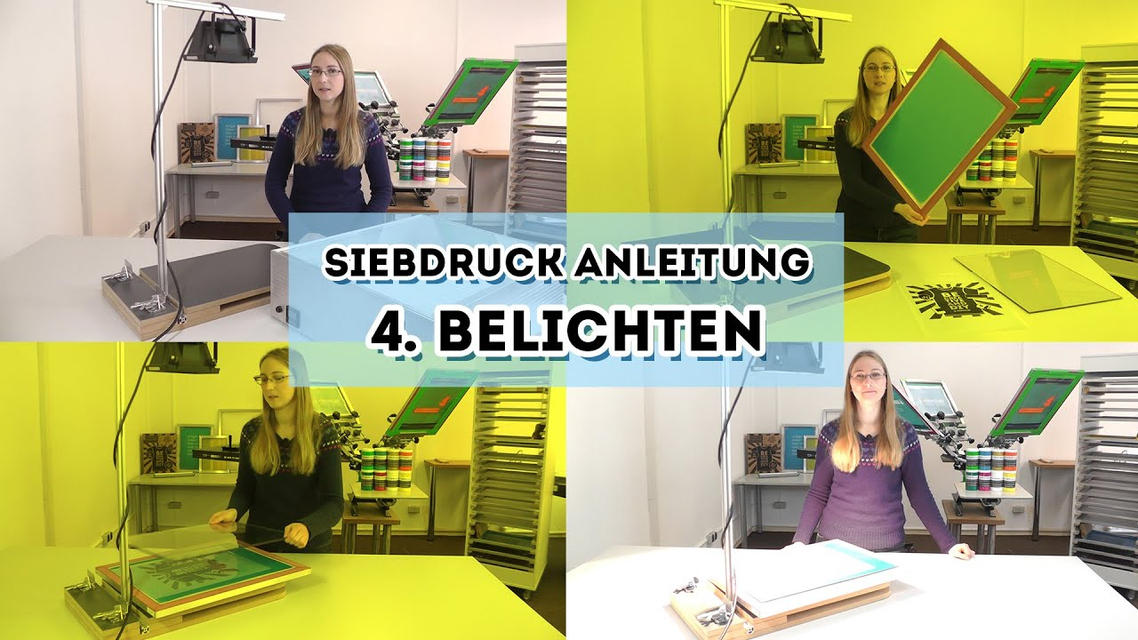 siebdruck selber machen anleitung teil 4 belichtung youtube. Black Bedroom Furniture Sets. Home Design Ideas