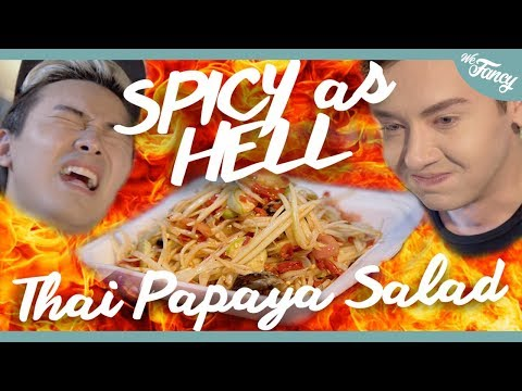 SPICY as HELL Thai Papaya Salad feat. VRZO Pleum