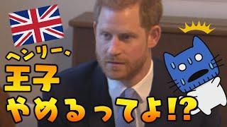 王子やめます!?ヘンリー王子の引退宣言【マスクにゃんニュース】
