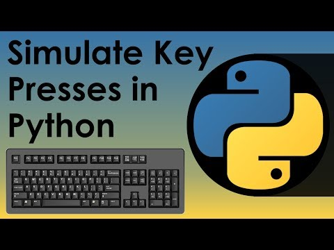 Simulate Key Presses in Python - YouTube