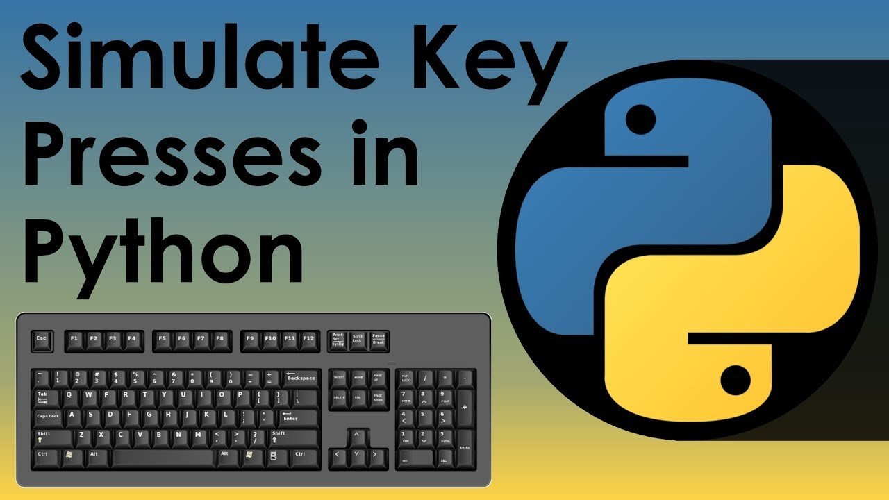 Simulate Keypresses In Python - Nitratine