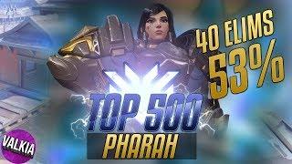 Top 500 Pharah - 40 Elims / 53% || Rocket Queen || Valkia
