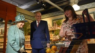 Queen Elizabeth Goes Back In Time Views 'Original' Sainsbury's 150th Anniversary Store! Video